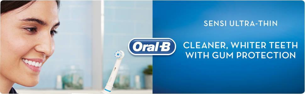 Oral-B Sensi Clean Electric Toothbrush Replacement Heads, Pack of 4