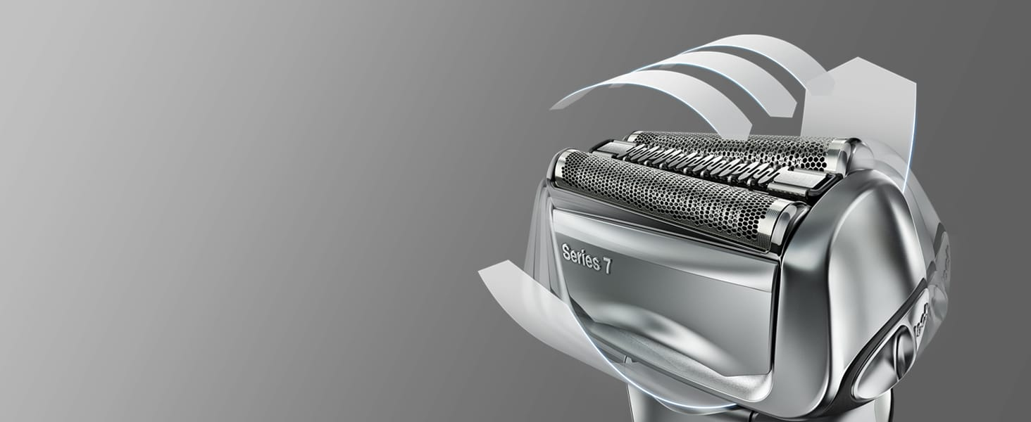 The flexible shaver head adapts to your skin's contours to reach the trickiest parts of your beard.