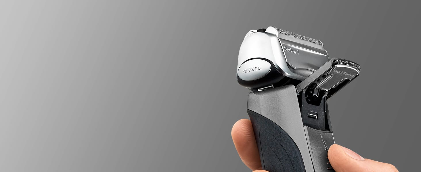 The skin-friendly trimmer helps you easily reach difficult areas, like under your nose or sideburns.