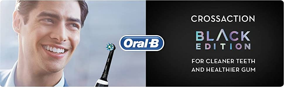 CrossAction Black Edition for cleaner teeth and healthier gums