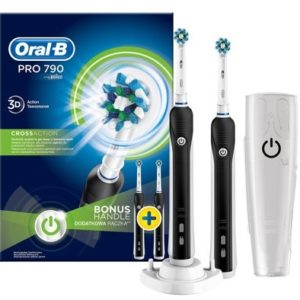 ORAL B POWER TOOTHBRSH PRO790 CROSSACTION (GIFTING) 2x HANDLES +TRAVEL CASE (NEW)