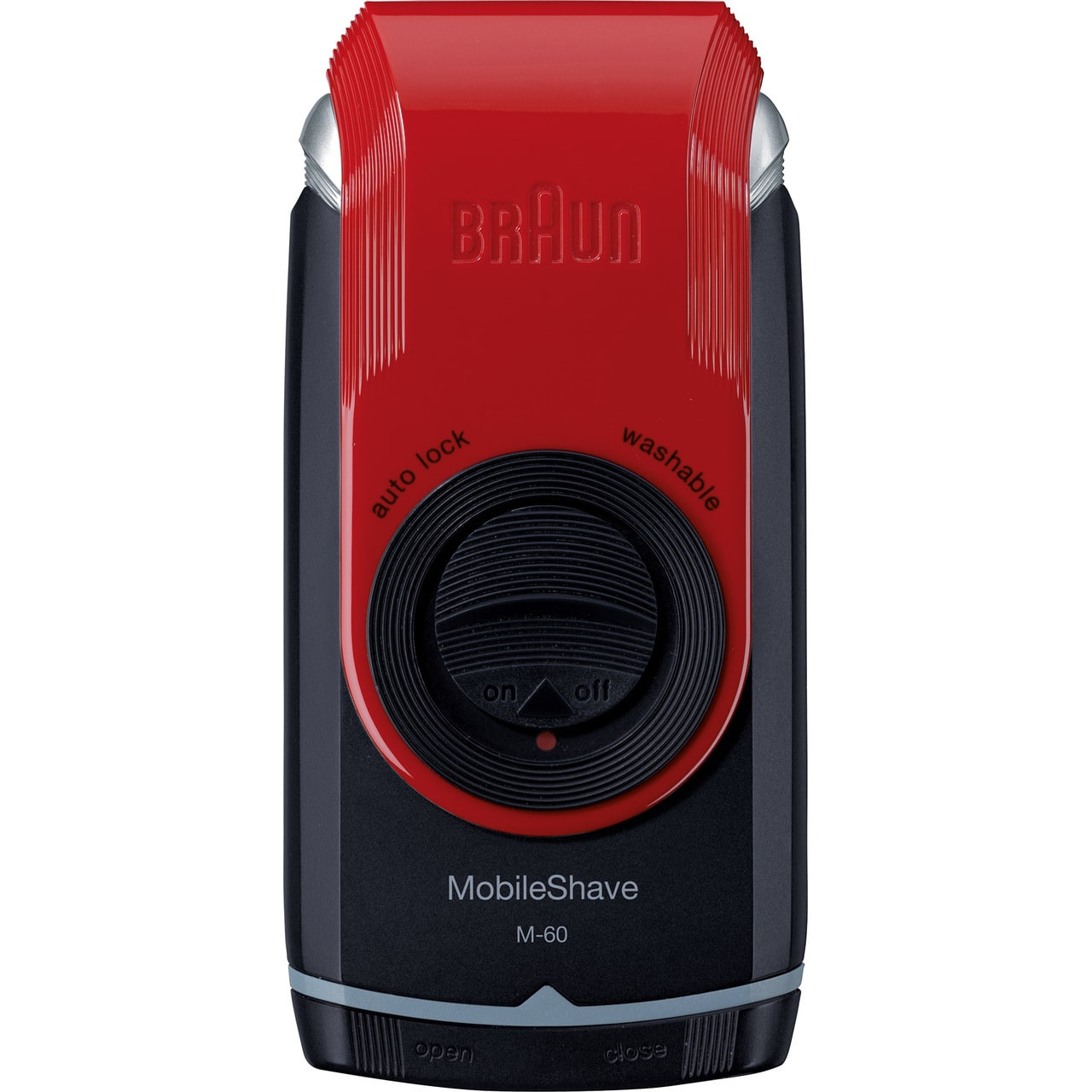 BRAUN MOBILE SHAVER M60 RED - BATTERY OPERATED