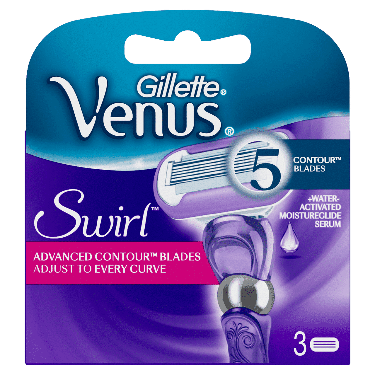 GILLETTE VENUS SWIRL CARTRIDGES by 3 blades