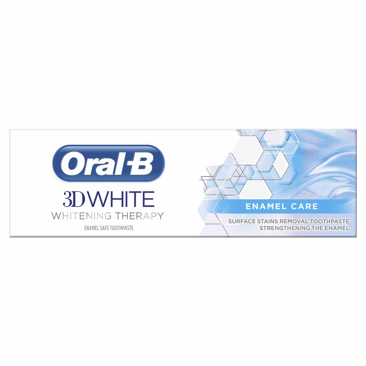 ORAL B TOOTHPASTE 3D WHITE THERAPY ENAMEL (75ML)