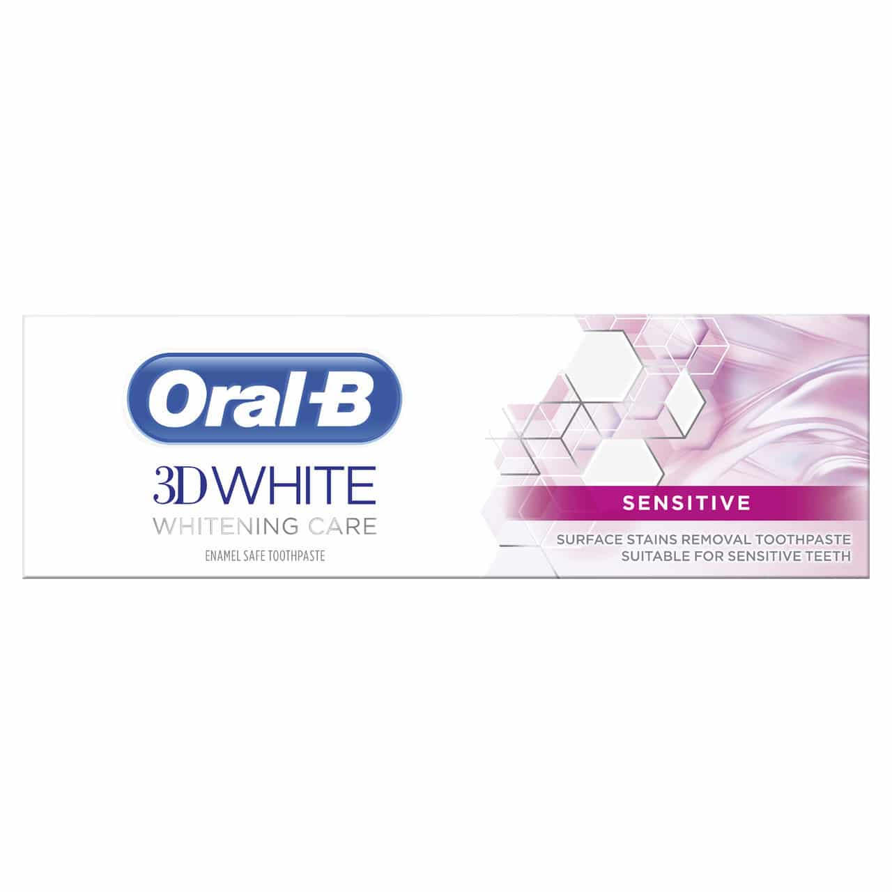 ORAL B TOOTHPASTE 3D WHITE THERAPY SENSITIVE(75ML)
