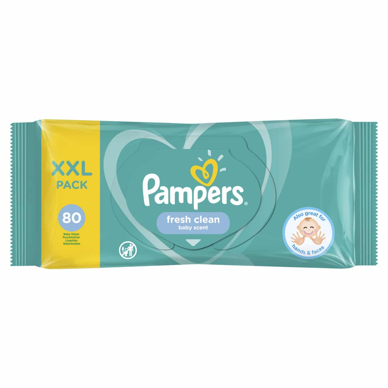 PAMPERS FRESH CLEAN WIPES  (By 80 wipes)
