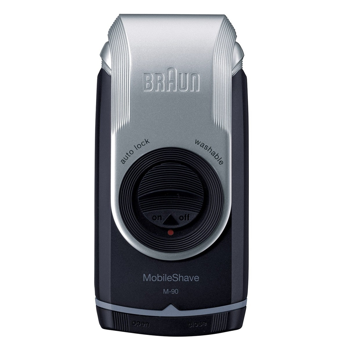 BRAUN SHAVER M90 SILVER/ BLUE - BATTERY