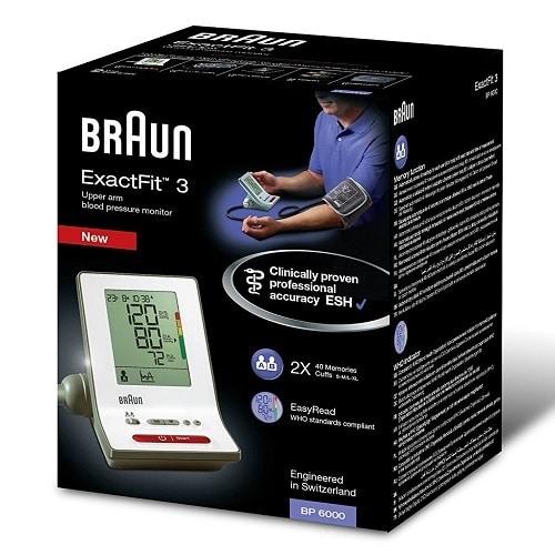 BRAUN BLOOD PRESSURE MONITOR, EXACTFIT 3 BP6000