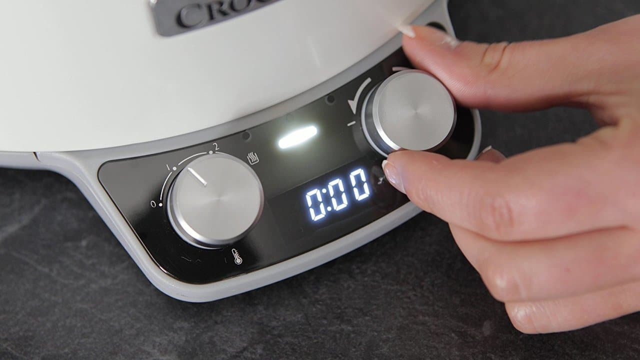 CROCK-POT SLOW COOKER DURACERAMIC WHITE 6L (For 8)