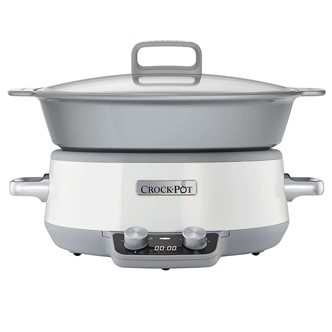 CROCK-POT SLOW COOKER DURACERAMIC WHITE 6L (For 8)