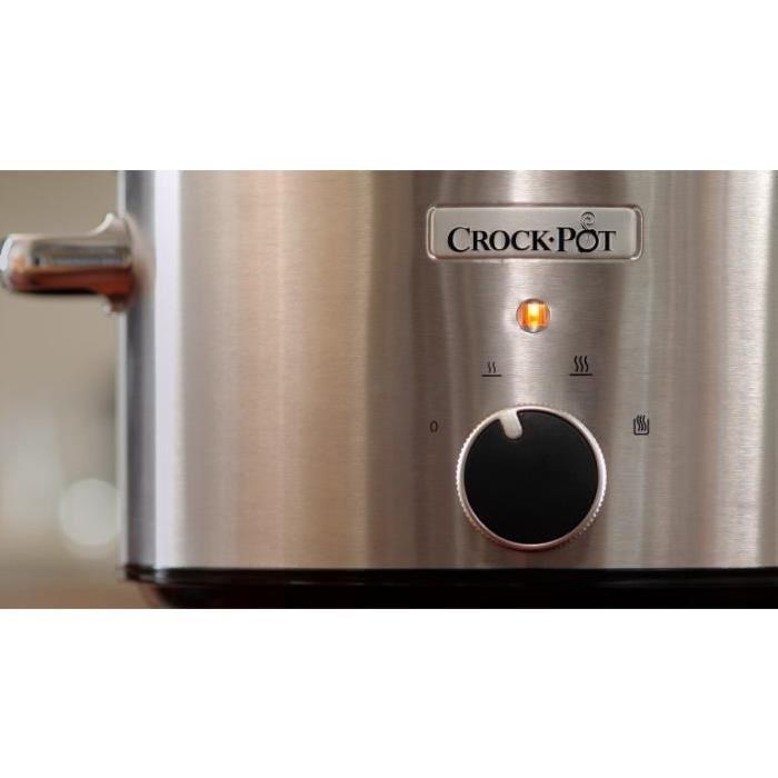 CROCK-POT SLOW COOKER STEEL 3.5L (For 4)
