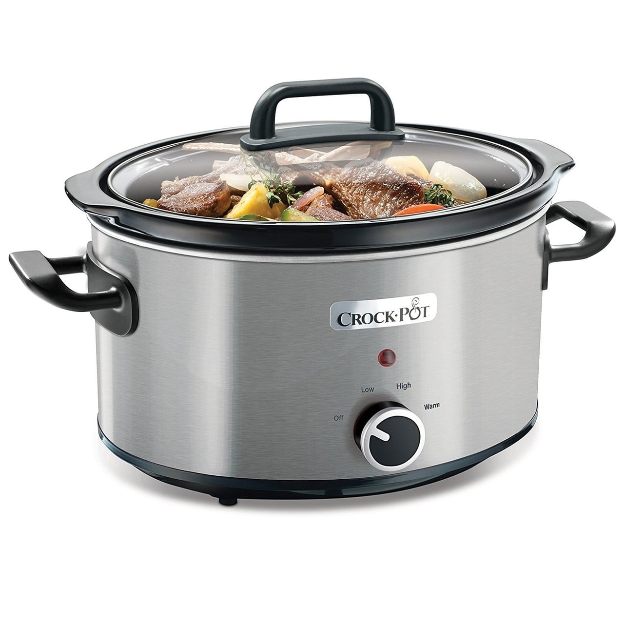 CROCK-POT SLOW COOKER STEEL 3.5L (For 4)