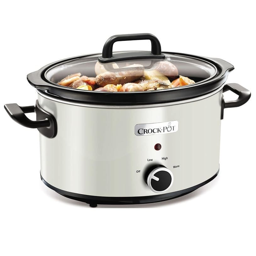 CROCK-POT SLOW COOKER WHITE 3.5L (For 4)