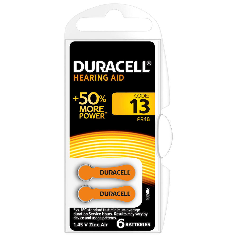 DURACELL HEARING AID BATTERIES 13