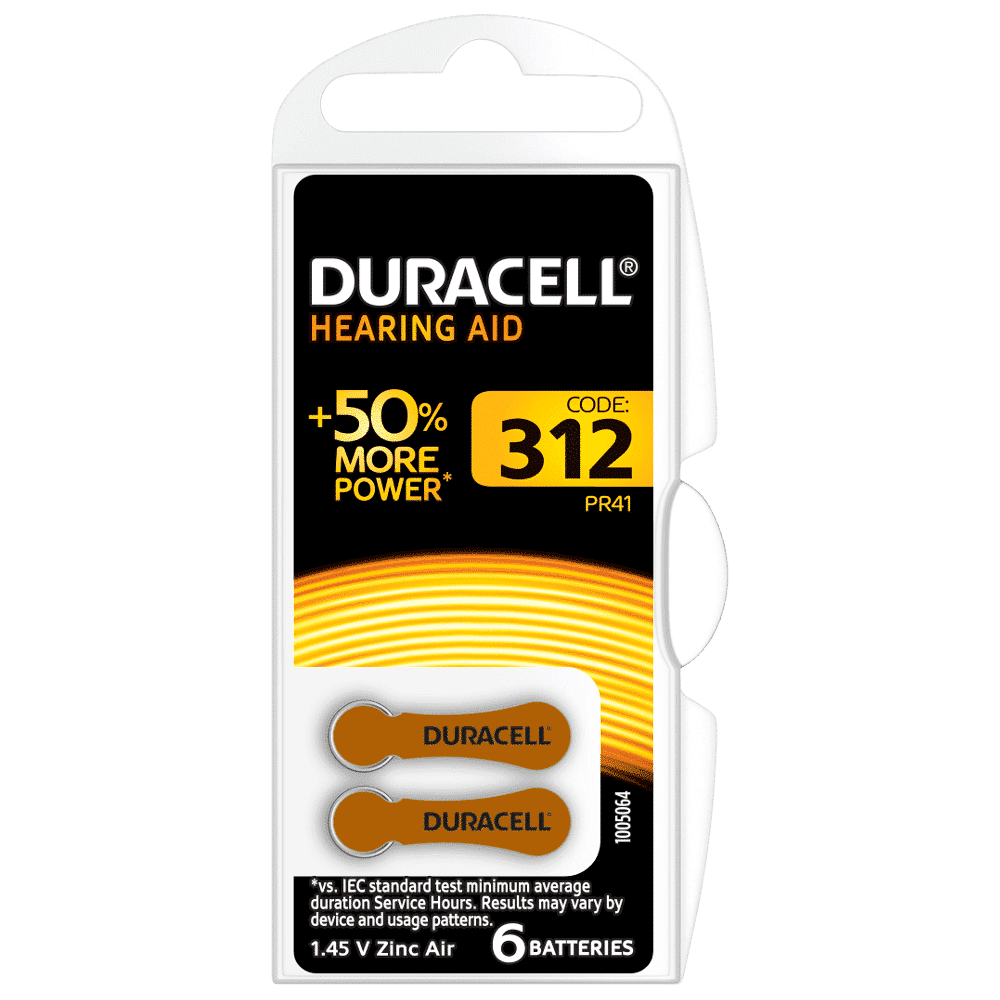 DURACELL HEARING AID BATTERIES 312