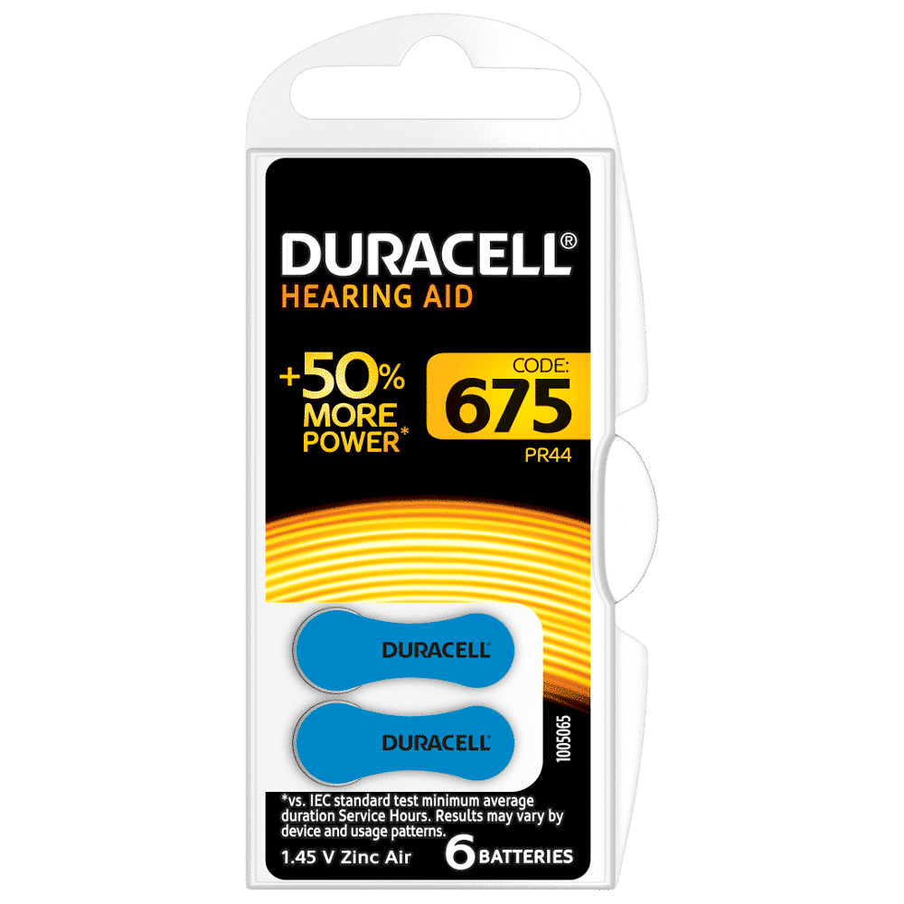 DURACELL HEARING AID BATTERIES 675