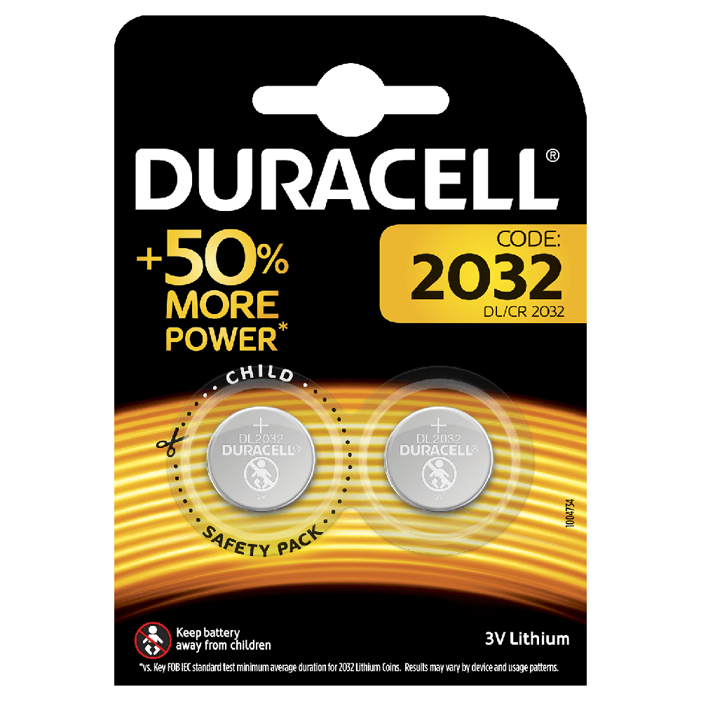 DURACELL SPECIALTY 2032 LITHIUM COIN (x2)
