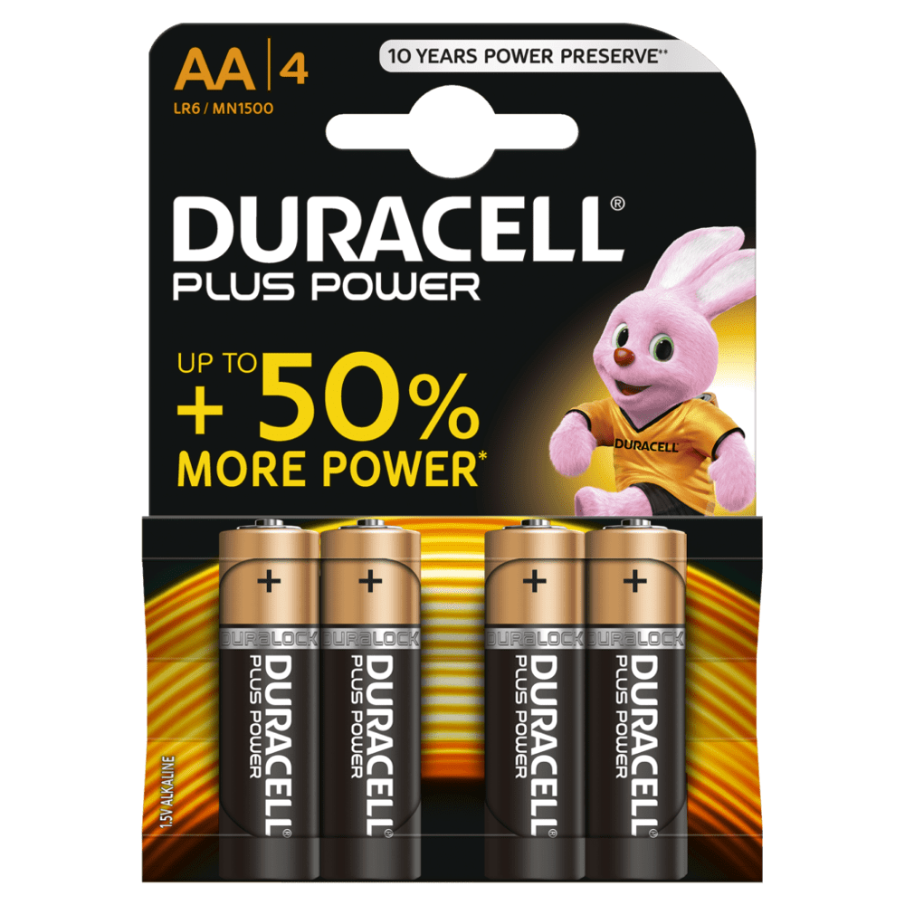 DURACELL PLUS POWER AA (x4)