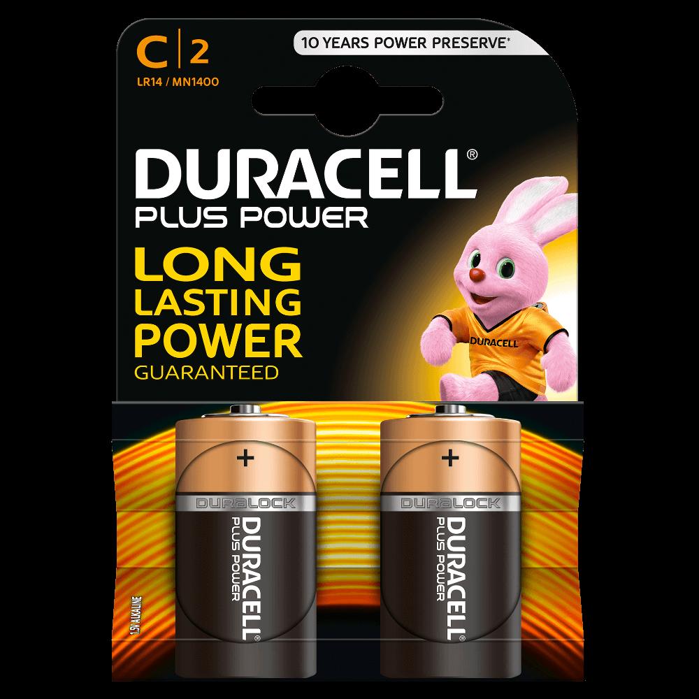 DURACELL PLUS POWER C (x2)