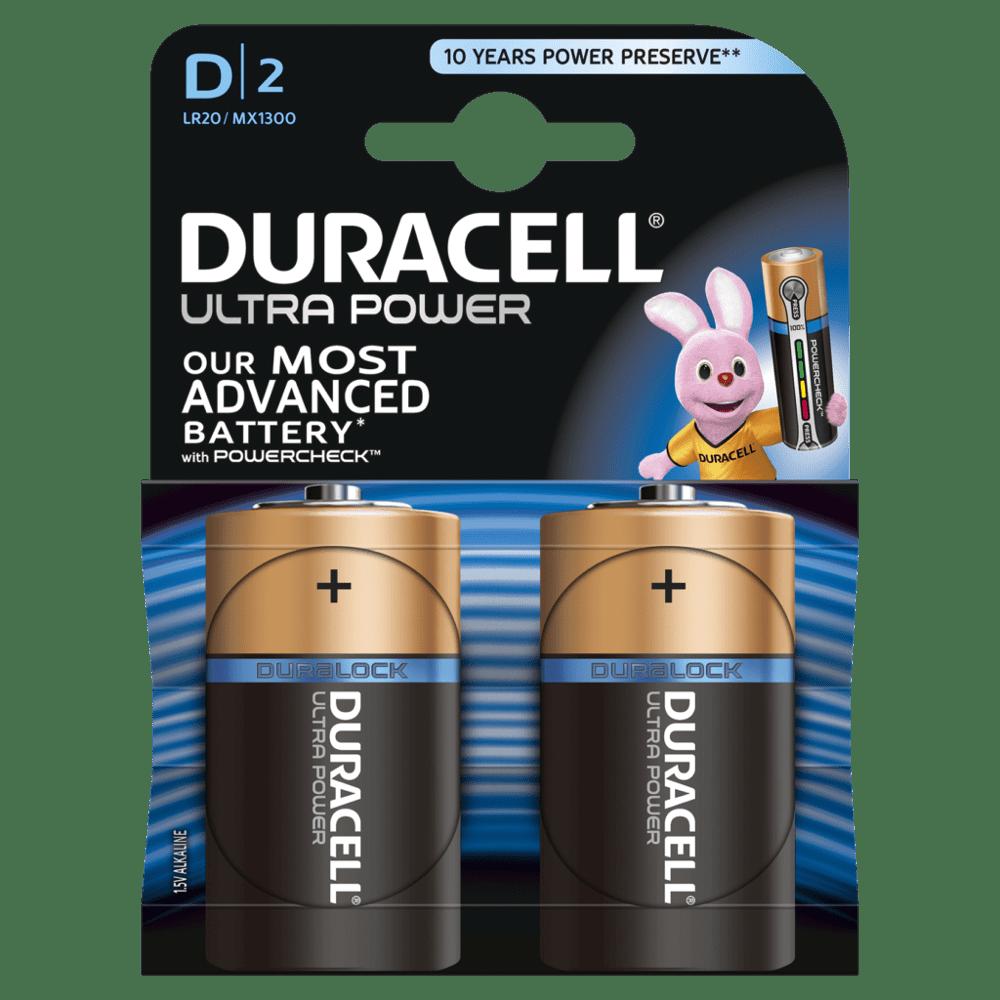 DURACELL ULTRA POWER D (x2)