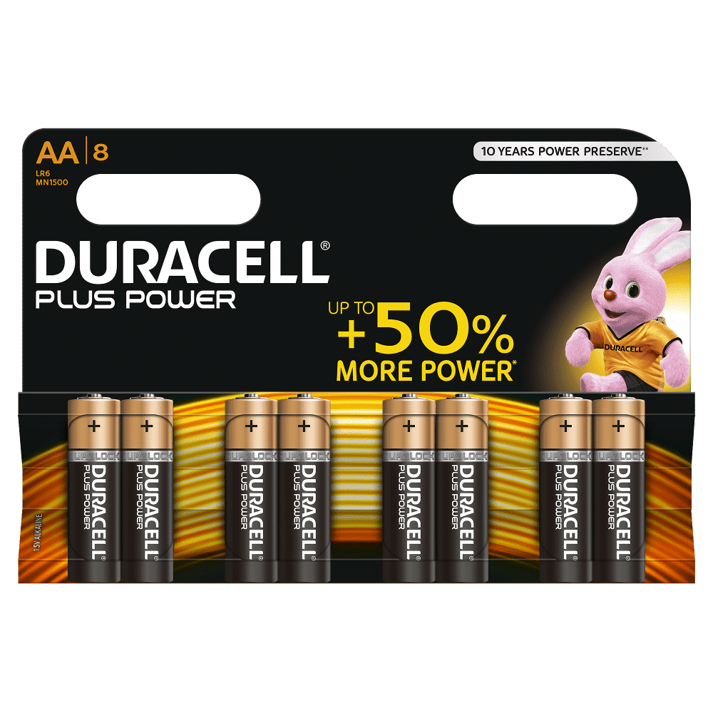 DURACELL PLUS POWER AA (x8)