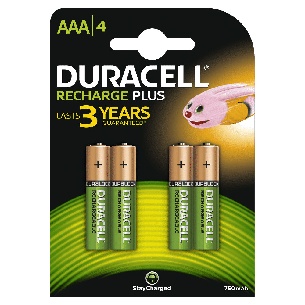 DURACELL RECHARGEABLE PLUS AAA (X4)