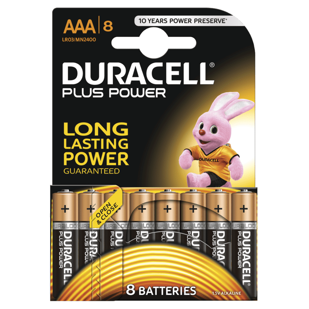 DURACELL PLUS POWER AAA (x8)
