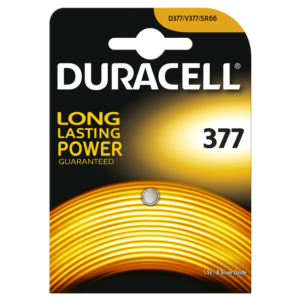 DURACELL WATCH 377 SILVER OXIDE