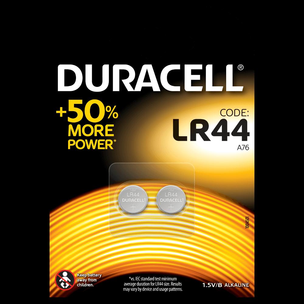 DURACELL SPECIALTY LR44 ALKALINE BUTTON (x2)