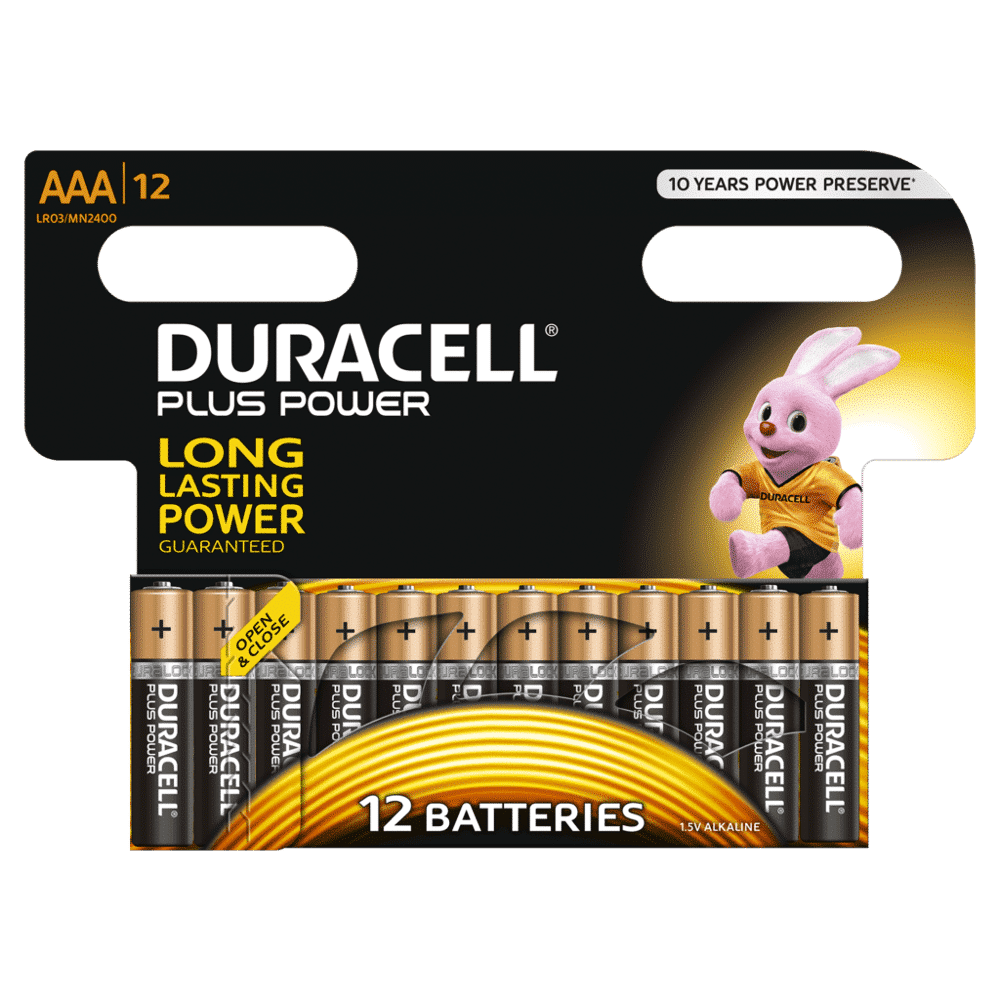 DURACELL PLUS POWER AAA (x12)