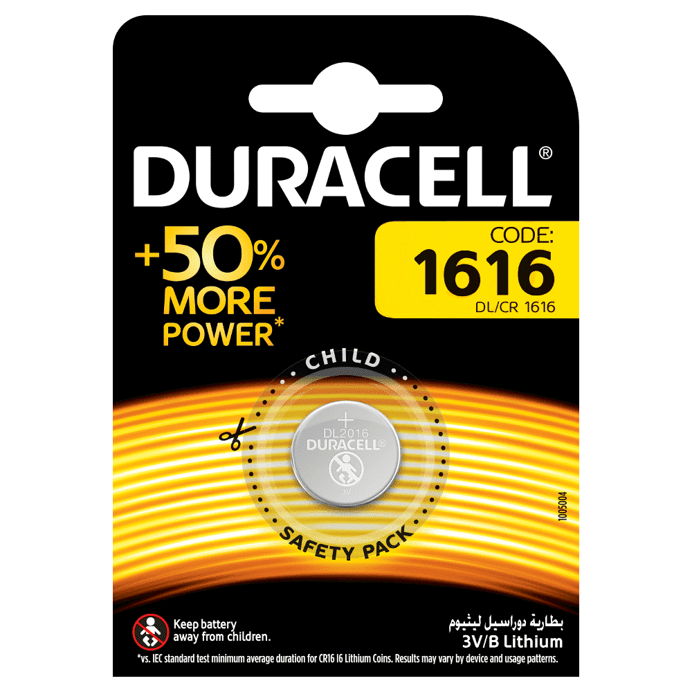 DURACELL SPECIALTY 1616 LITHIUM COIN