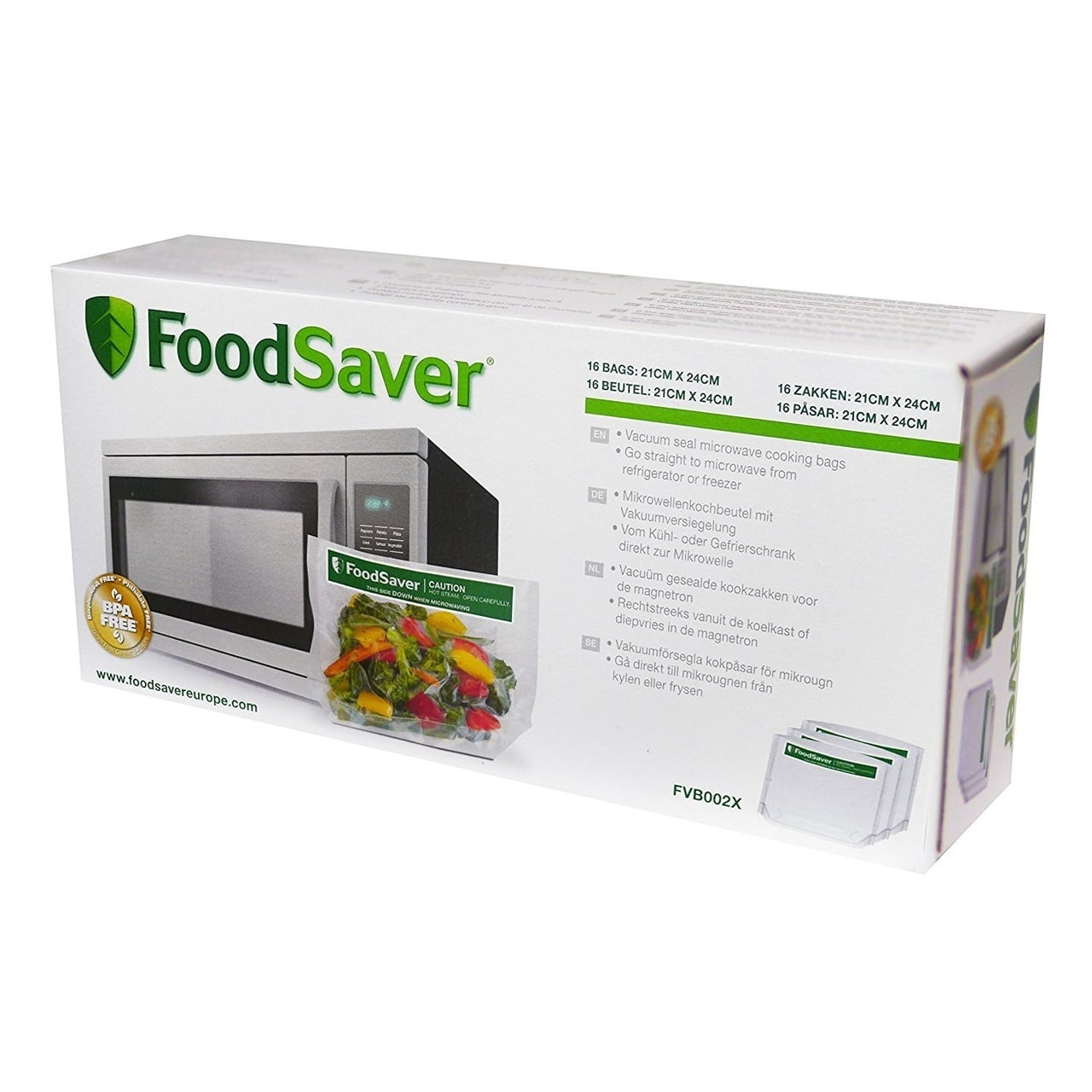 FOODSAVER VACUUM SEALER FREEZE & STEAM BAGS (950ML)