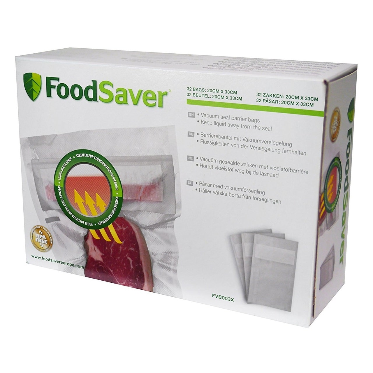 FOODSAVER VACUUM SEALER LIQUID HEAT SEAL BAGS (950ML)