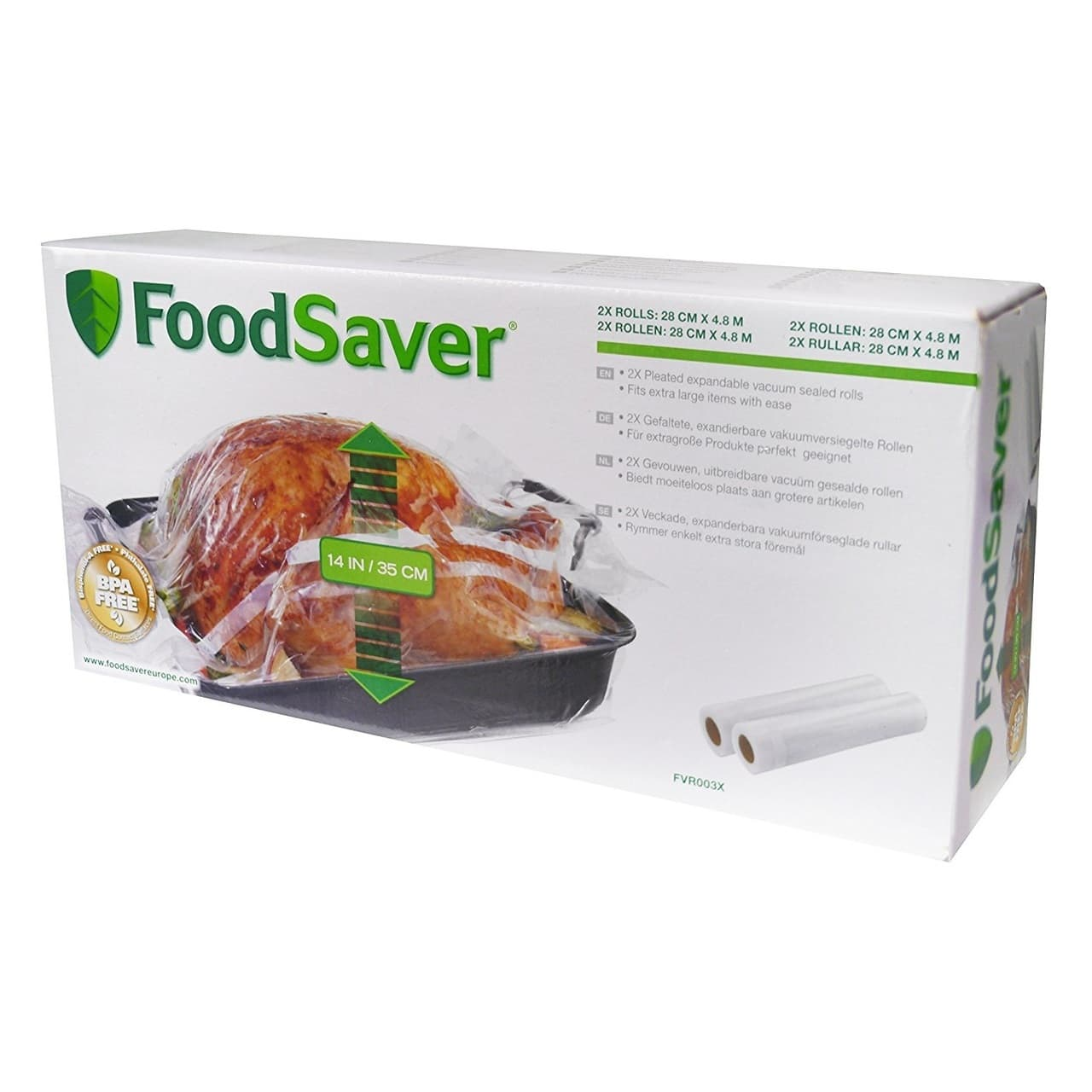 FOODSAVER VACUUM SEALER EXPANDABLE 2PACK (11X16CM)