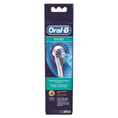 ORAL B POWER BRUSH HEAD OXYJET (ED170) x4s