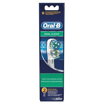 ORAL B POWER BRUSH HEAD DUAL CLEAN (EB417) x2s
