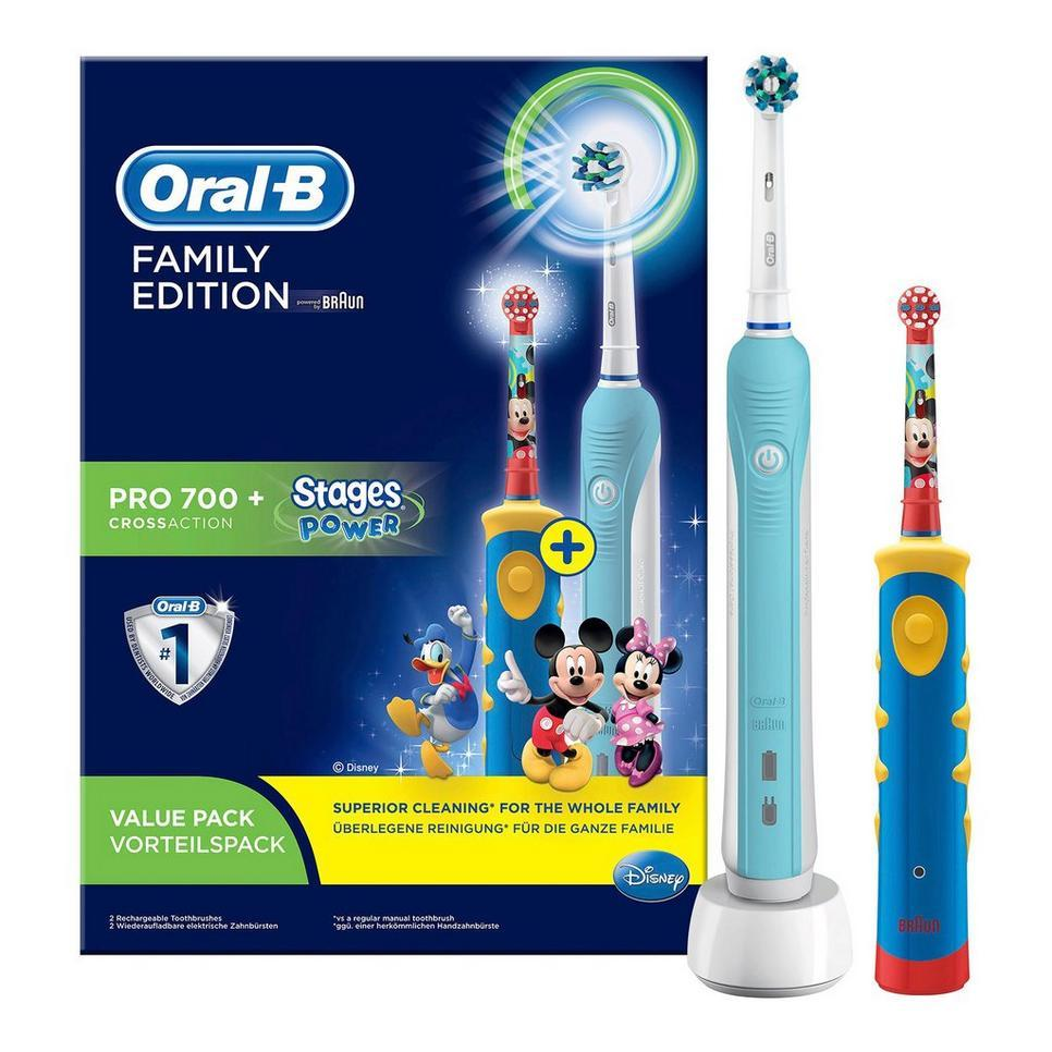 ORAL B POWER TOOTBRUSH PRO CARE 700 FAMILY PACK
