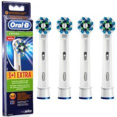 ORAL B POWER BRUSH HEAD CROSSACTION (EB50) x4s