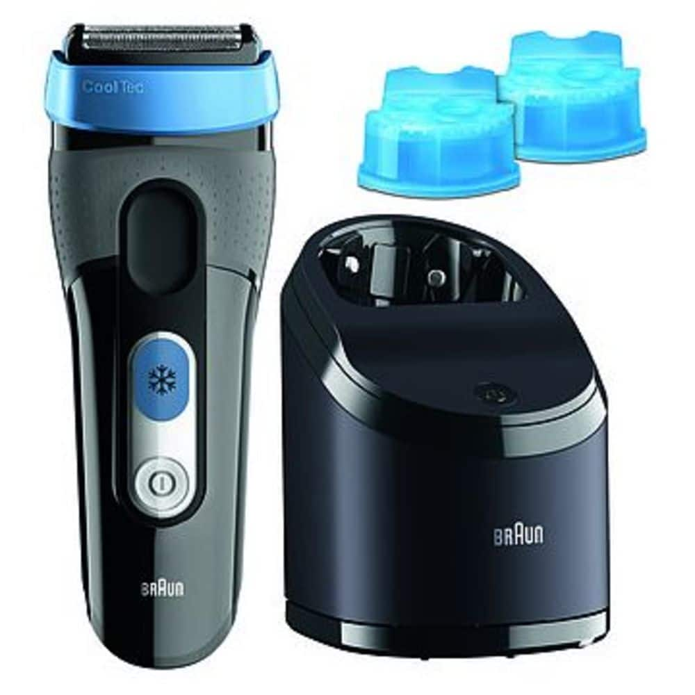 BRAUN COOLTEC SHAVER 2CC BLACK + FREE CLEANING CARTRIDGE