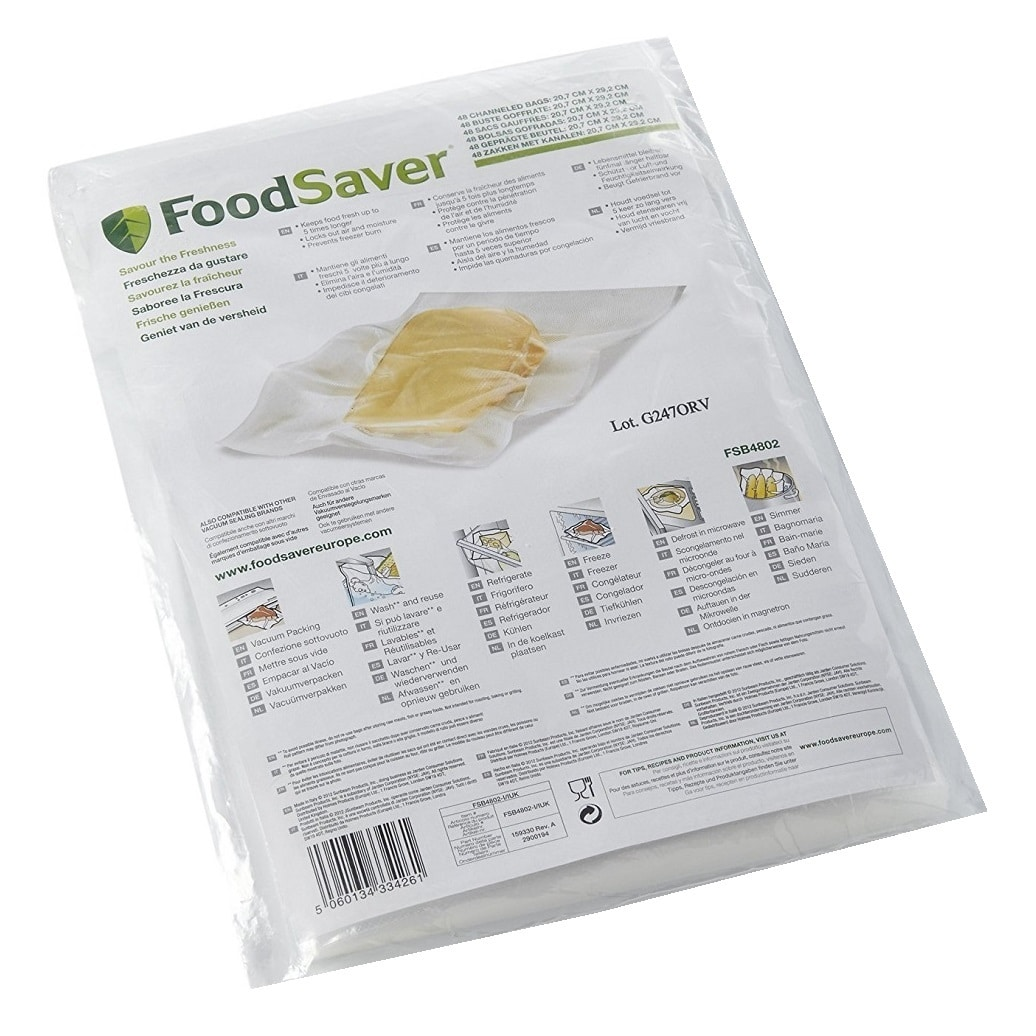 FOODSAVER VACUUM SEALER 48 BAGS (20x29CM)