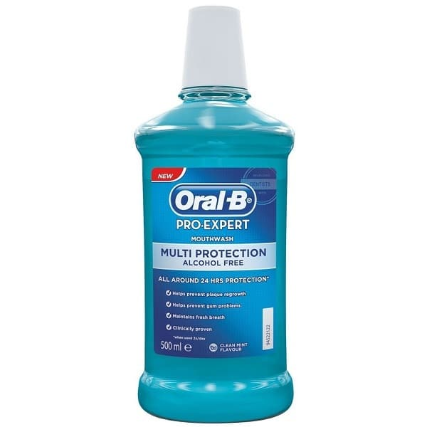 ORAL B MOUTHWASH PRO EXPERT MULTI-PROTECTION ALCOHOL FREE (500ML)