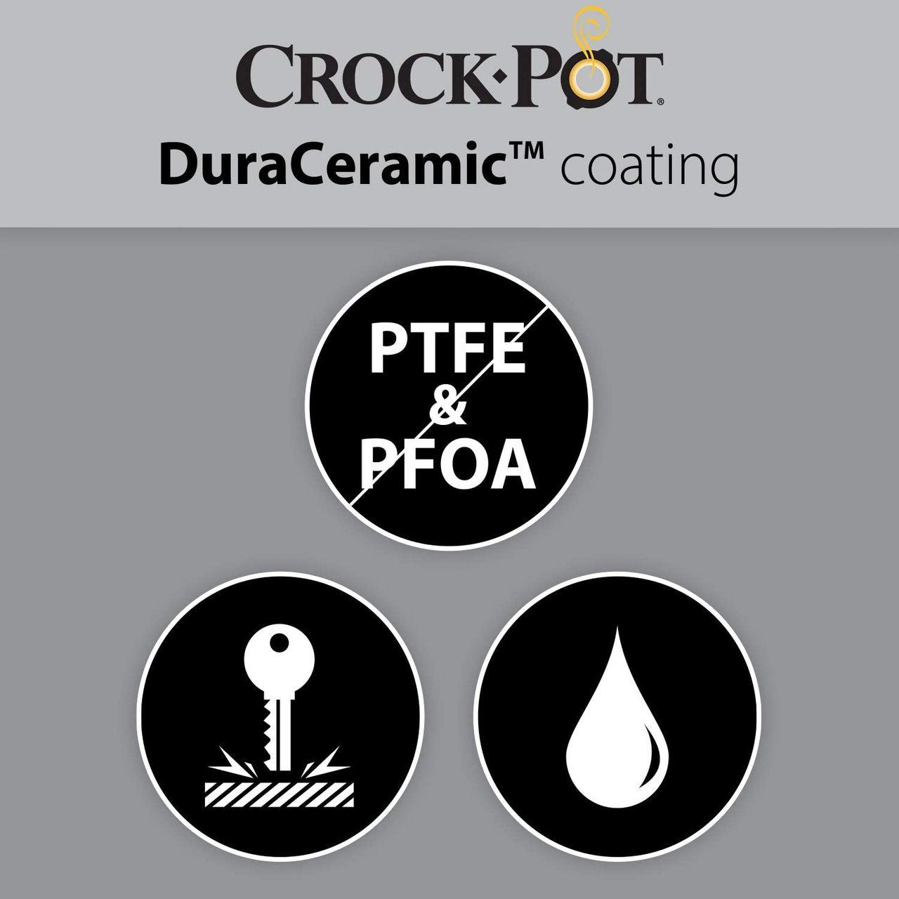 CROCK-POT SLOW COOKER DURACERAMIC WHITE 5.0L (For 6) (NEW)