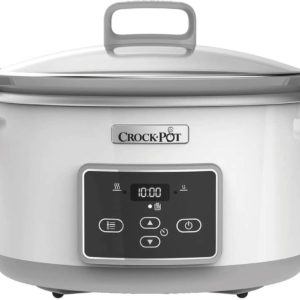 CROCK-POT SLOW COOKER DURACERAMIC WHITE 5.0L (For 6) (NEW)