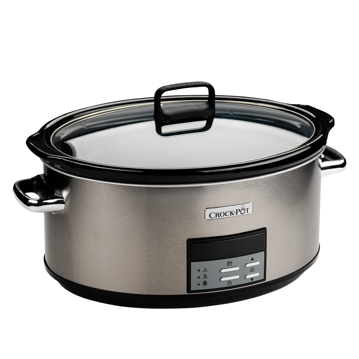 CROCK-POT SLOW COOKER 7.5L SILVER (For 10) (NEW)