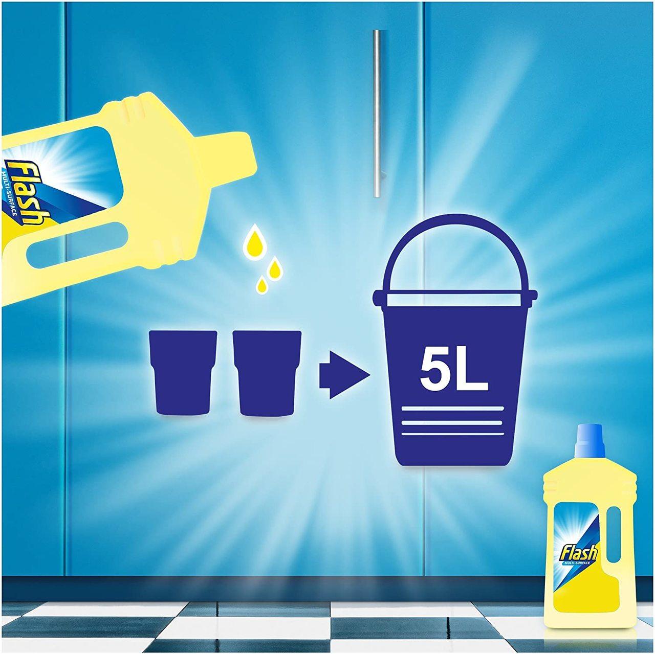 FLASH ALL PURPOSE CLEANER LIQUID  CRISPS LEMON 2.05L