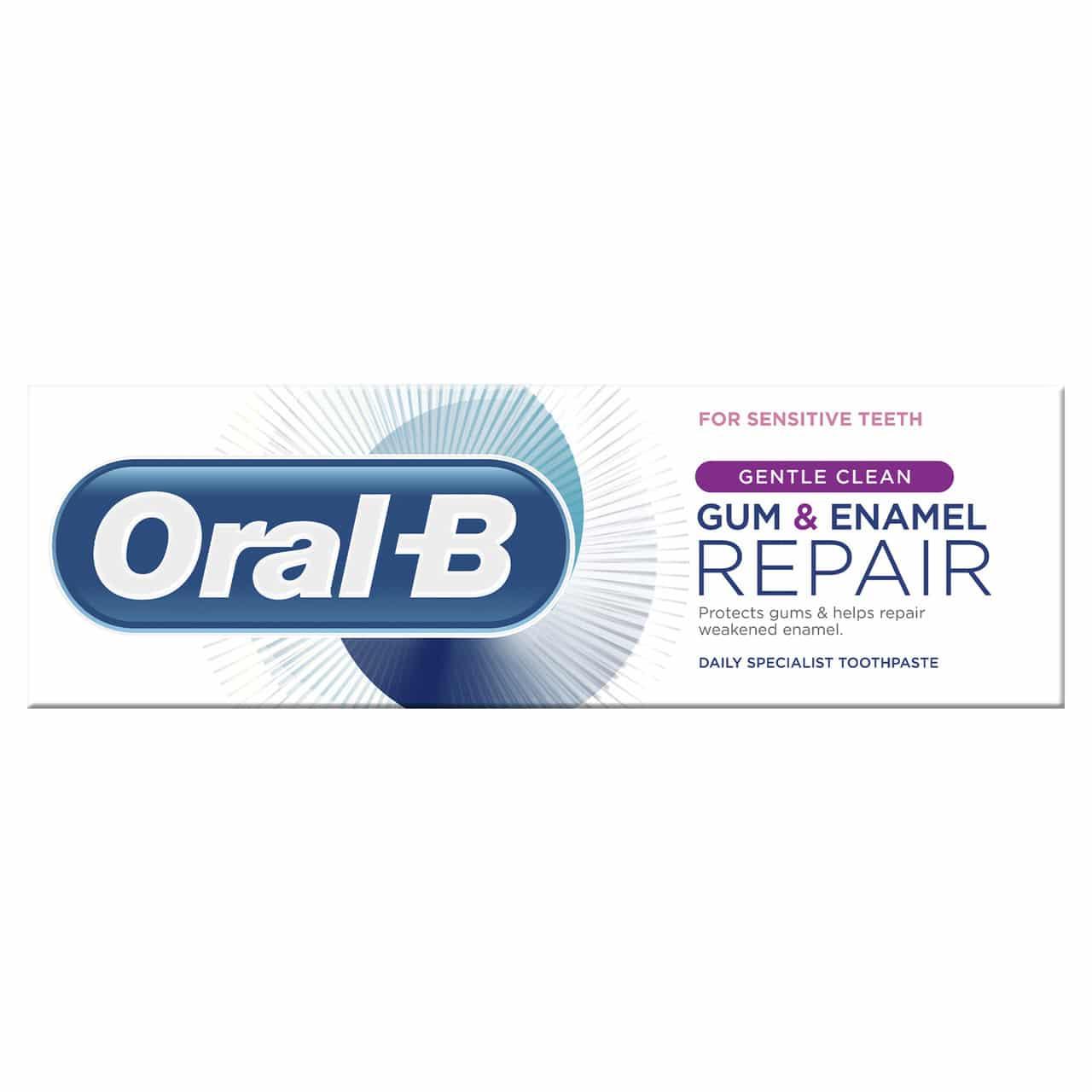 ORAL B TOOTHPASTE GUM & ENAMEL SENSITIVE REPAIR GENTLE CLEAN (75ML)