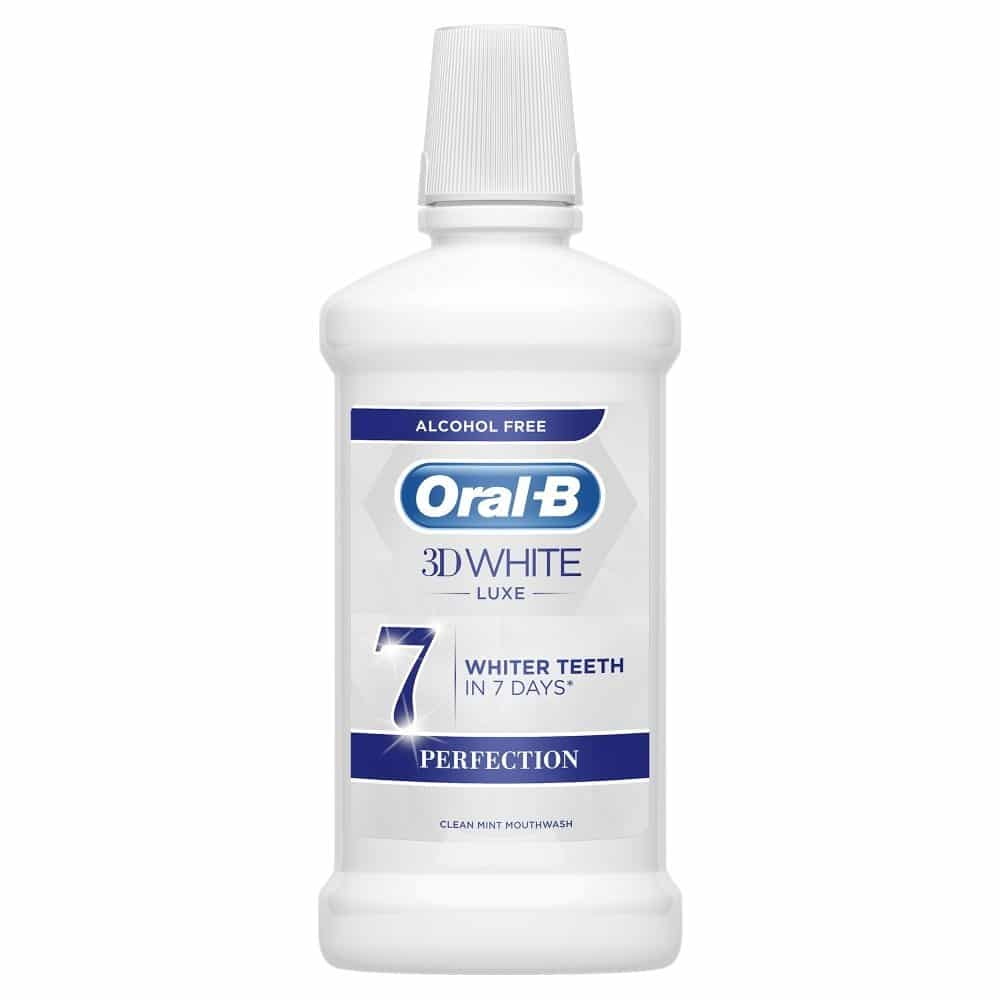 ORAL B MOUTHWASH 3D WHITE LUXE PERFECTION 500ML (NEW)