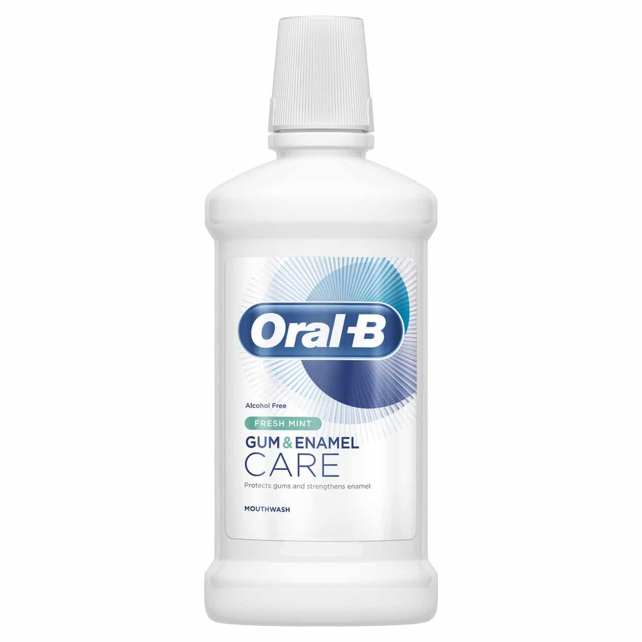 ORAL B MOUTHWASH GUM & ENAMEL FRESHMINT (500ML)