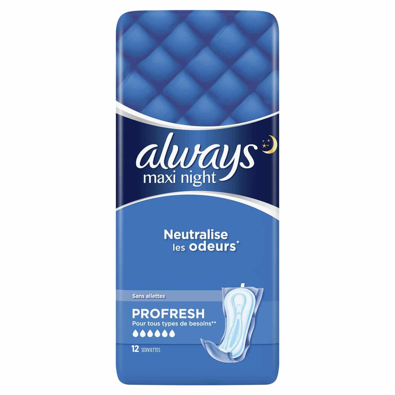 ALWAYS MAXI NIGHT PROFRESH BY 12