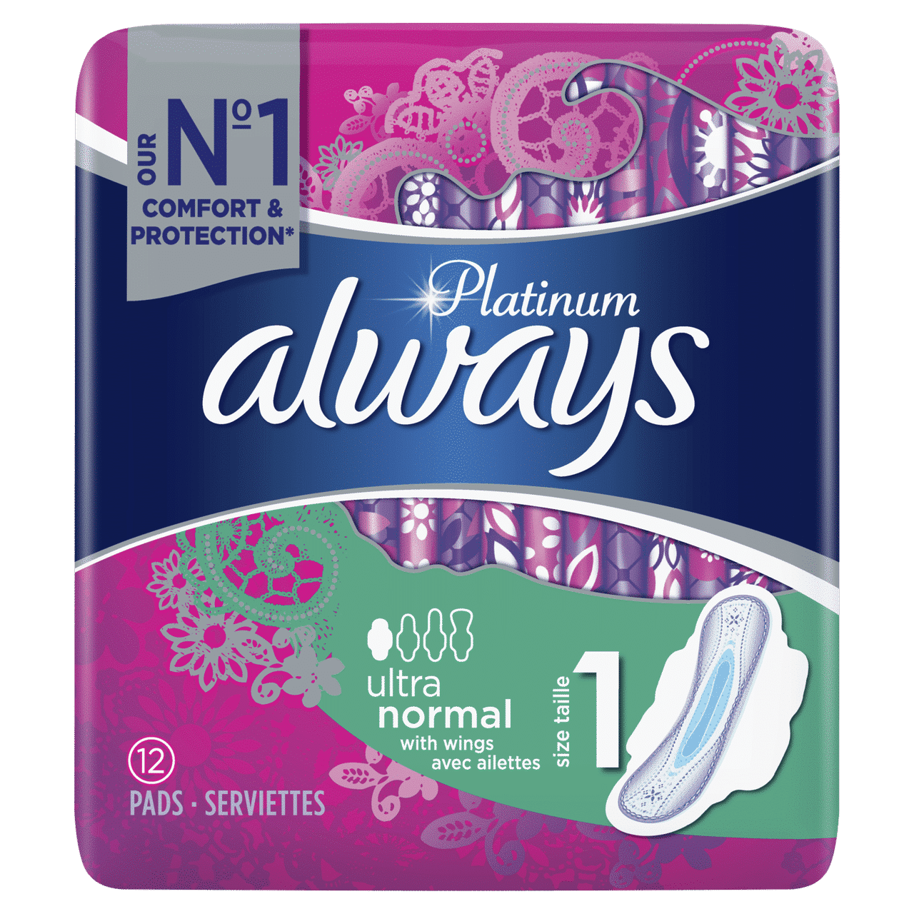 ALWAYS PLATINUM ULTRA NORMAL PLUS BY 12 (NEW)